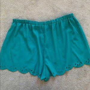 Honey Punch Shorts - Blue flowy shorts